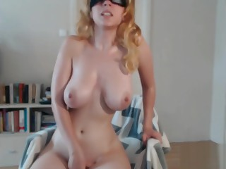 Hot Blonde masturbating prevalent amazing obese tits