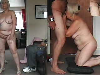 67 yo Granny dancing naked, flannel sucking with an too be fitting of cum drinking