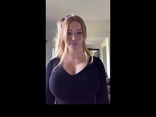 Beautiful girl helter-skelter incredible breasts