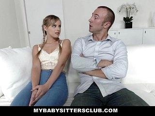 MyBabySittersClub - Teen Babysitter Gets Tight Pussy Fucked