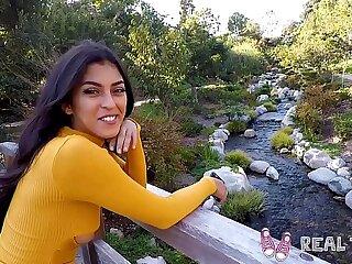 Real Puberty - Amatuer latina teen Sophia Leone POV sexual intercourse